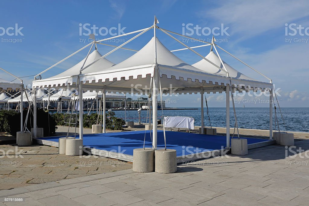 Party tents stock photo