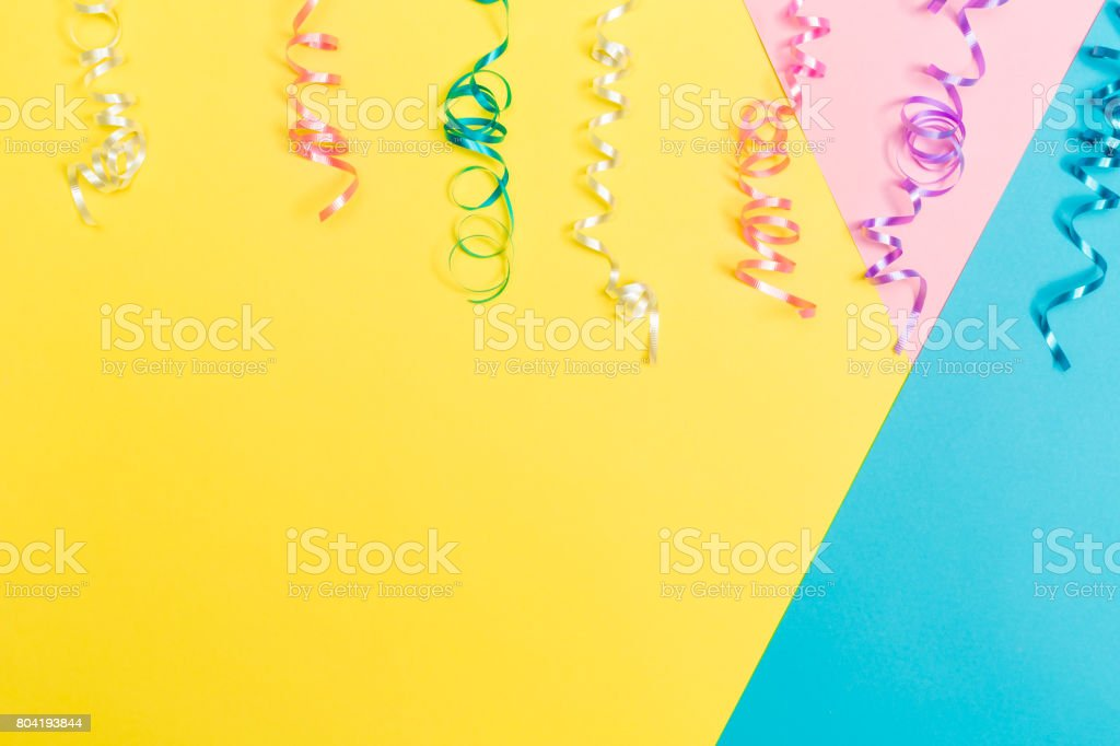 Party theme with streamers stock photo