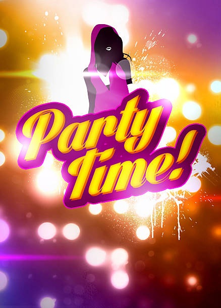 party time background - hip hop poster bildbanksfoton och bilder