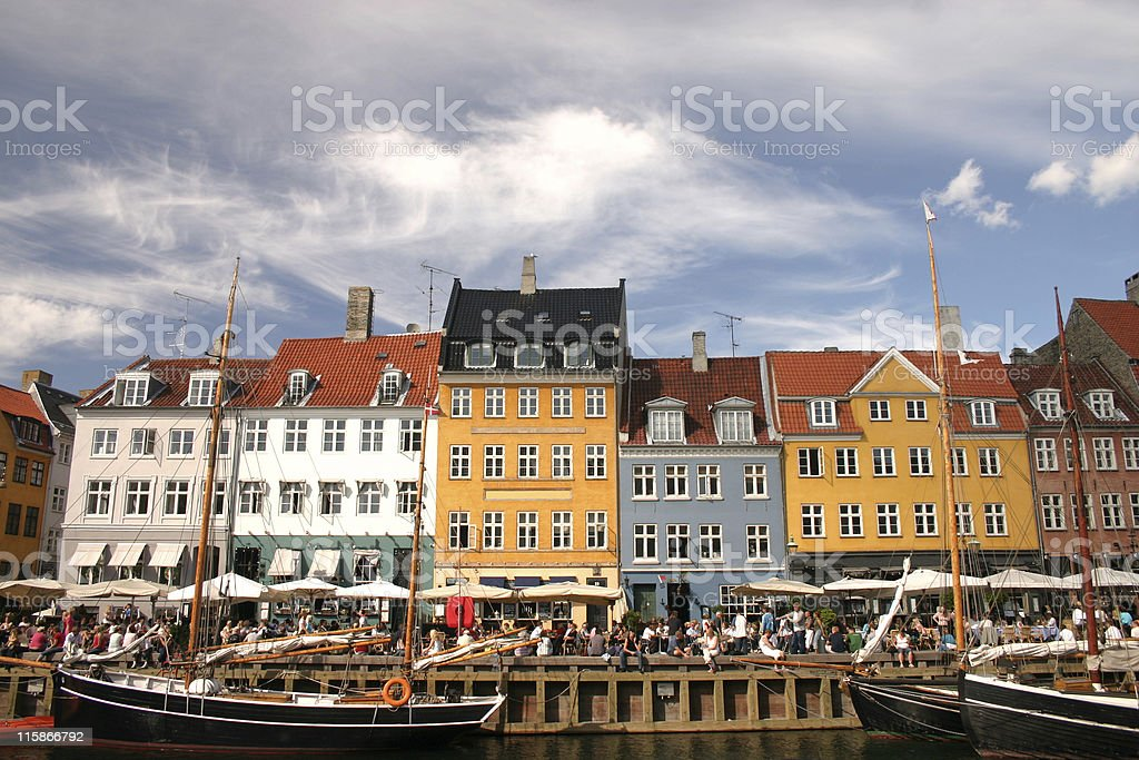 party time in Copenhagen royalty-free stock photo