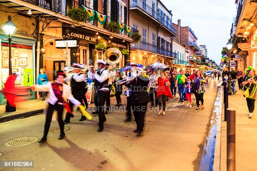 istock Party Time in New Orleans USA . 641682964