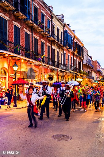 istock Party Time in New Orleans USA . 641683104
