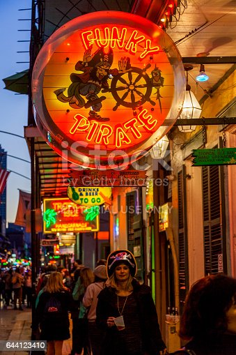 istock Party Time in New Orleans USA . 644123410