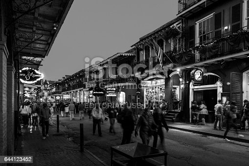 istock Party Time in New Orleans USA . 644123452