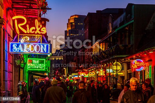 istock Party Time in New Orleans USA . 644123468