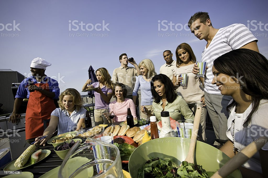 BBQ Party Time stock photo