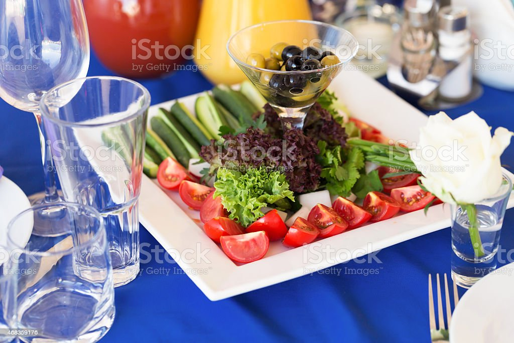 Party vegetables board on a table royalty-free stock photo