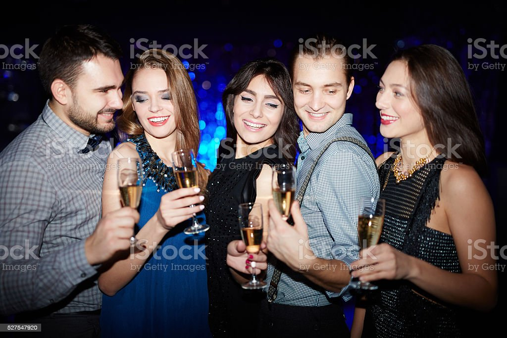 Party mit Champagner – Foto