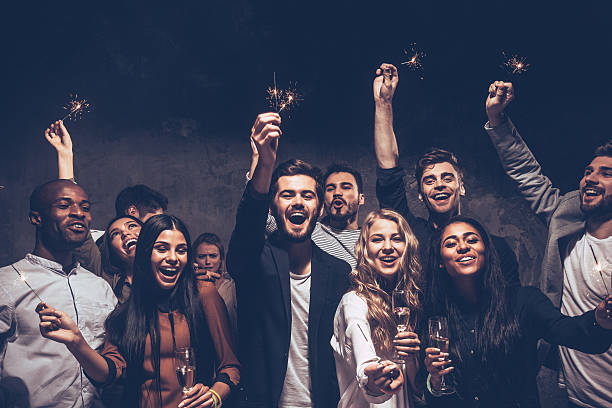 Party with friends. - foto de stock