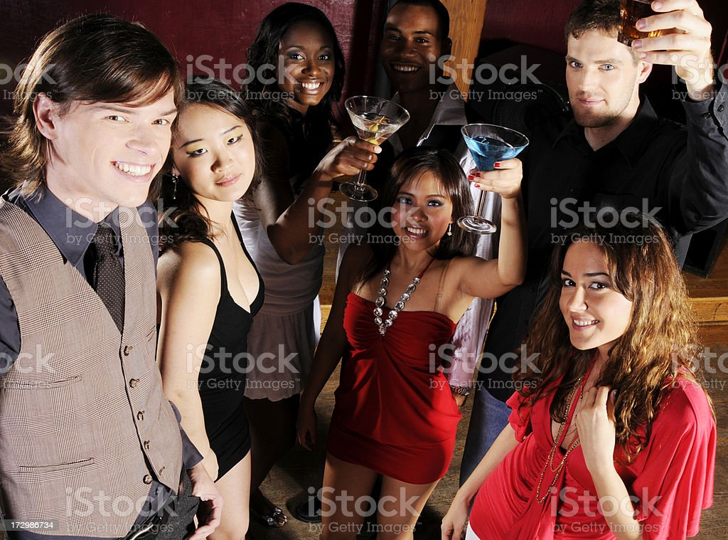 Partygoers royalty-free stock photo