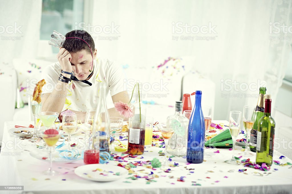 Partying alone royalty-free stock photo