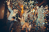 istock Partying Teenagers Being Silly In Street 521072669