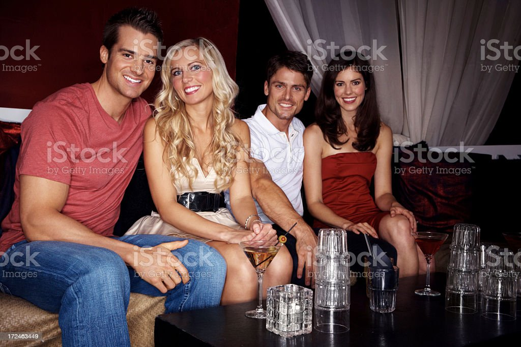 Partying the night away royalty-free stock photo