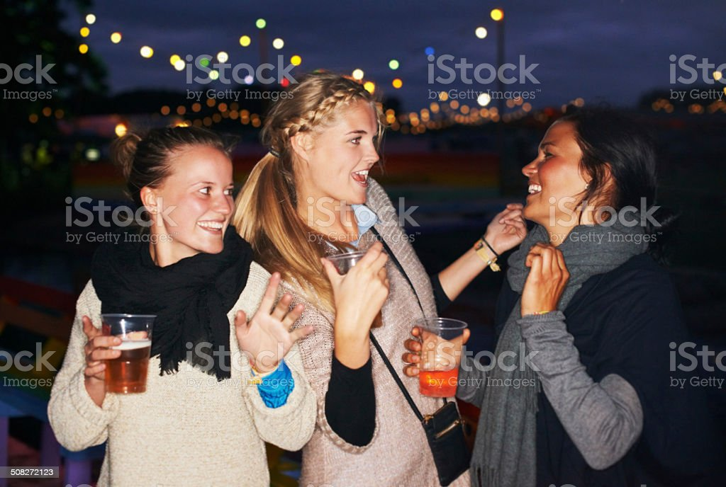Partying under the stars stock photo