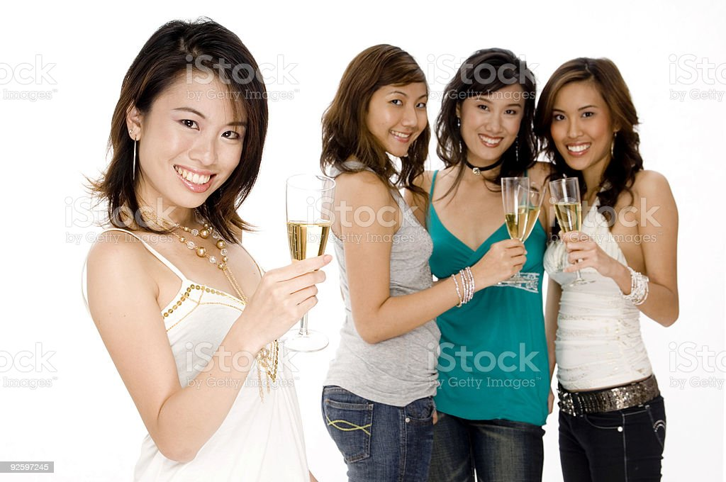Partying With Friends royalty-free stock photo