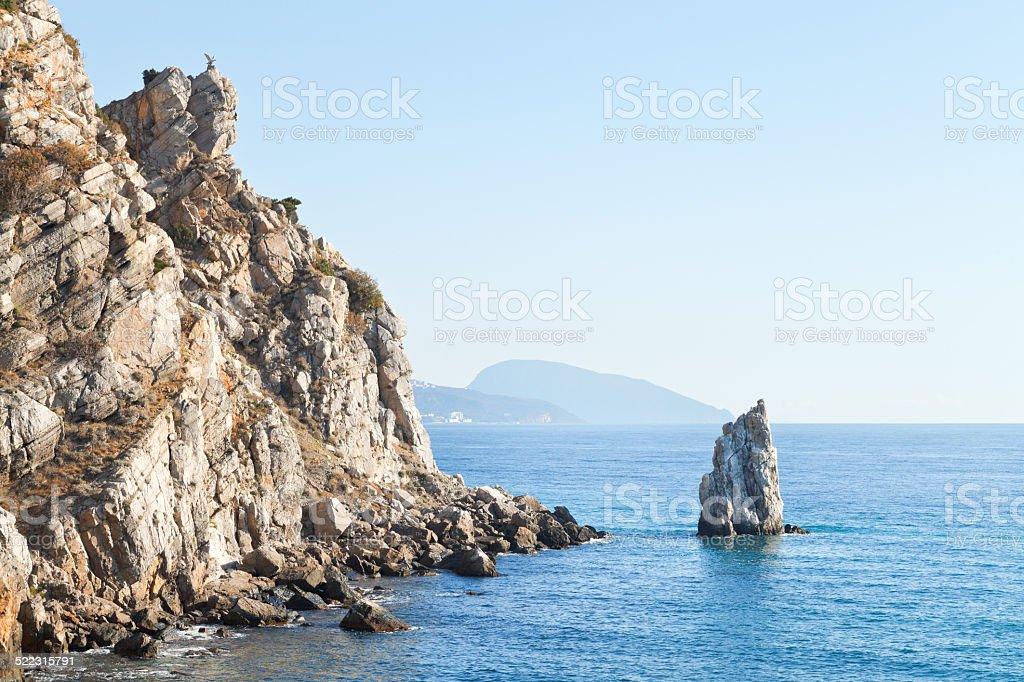 Parus (Sail) rock, Ayu-dag mount, Crimea stock photo