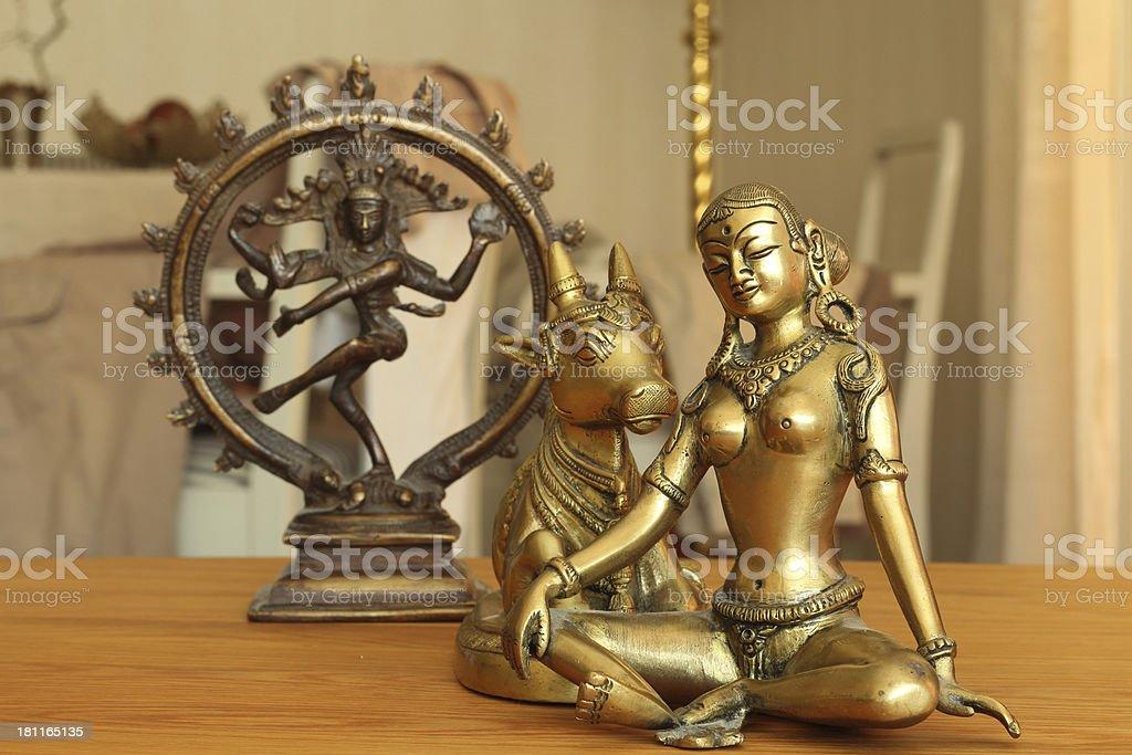 Parvati and her husband dof stock photo