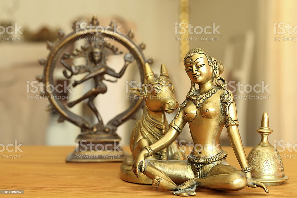Parvati and her husband stock photo