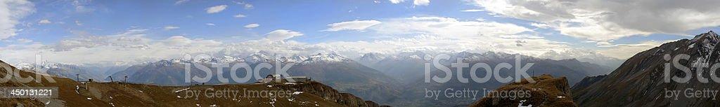 Pas de Maimbré in Anzère, Switzerland stock photo