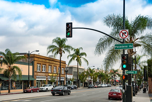 Pasadena Avenue, Los Angeles, California stock photo
