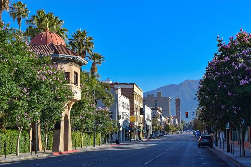 Pasadena California Street Scene Stock Photo - Download Image Now