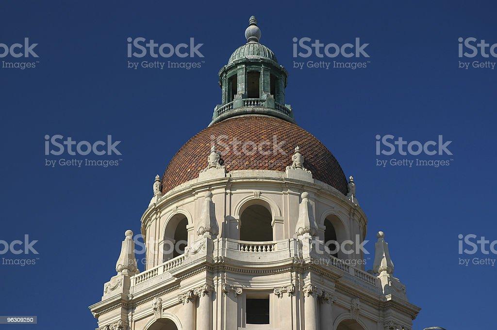 Pasadena City Hall dome royalty-free stock photo