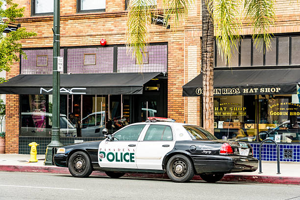 Pasadena Police Car, Los Angeles, California stock photo