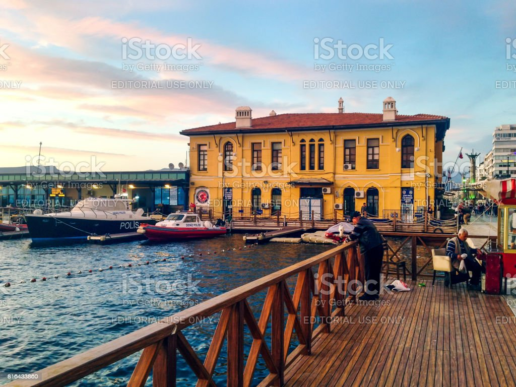 Pasaport in Alsancak, Izmir stock photo