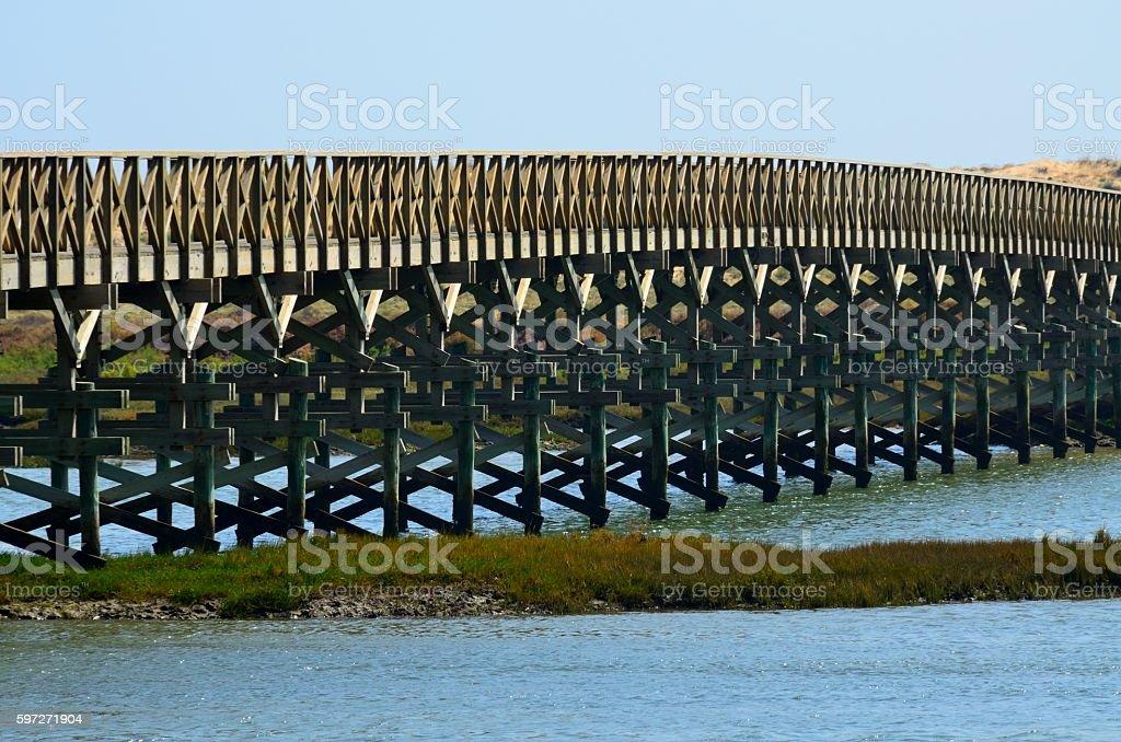 Pasarela de madera en Quinta do Lago, Almancil photo libre de droits