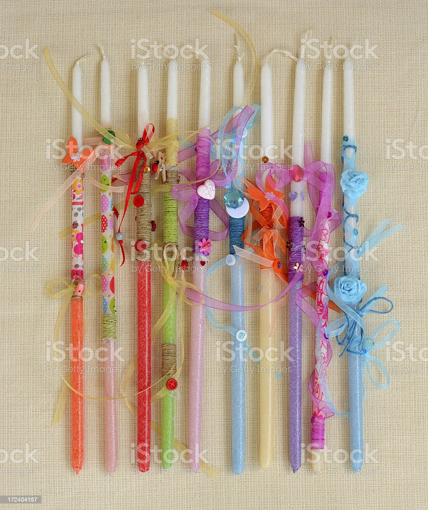 Paschal Candles royalty-free stock photo