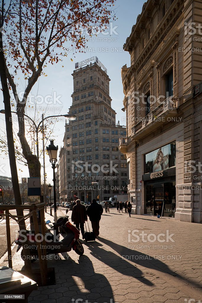 Paseo de Gracia, Barcelona stock photo