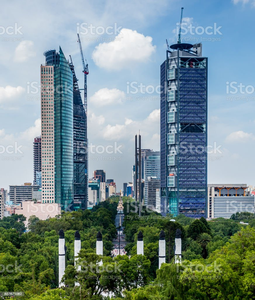 Paseo de la Reforma Avenue stock photo
