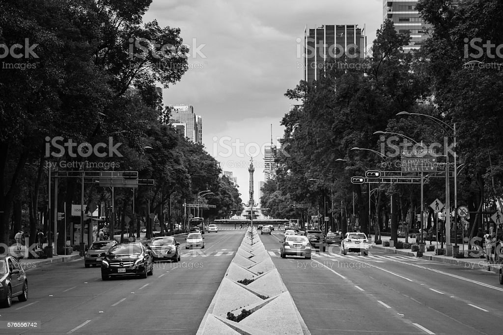 Paseo de la Reforma Mexico City stock photo