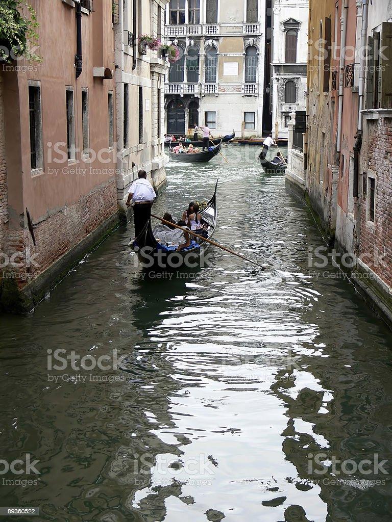 Paseo en gondola royalty-free stock photo