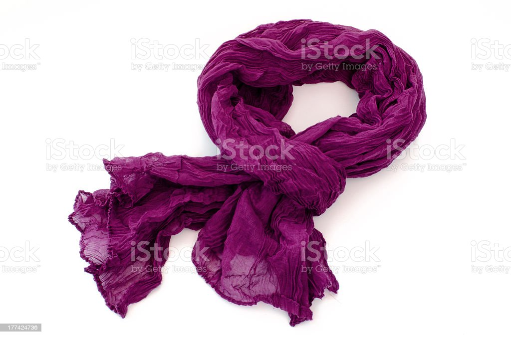 Pashmina purpura de tela rugosa stock photo