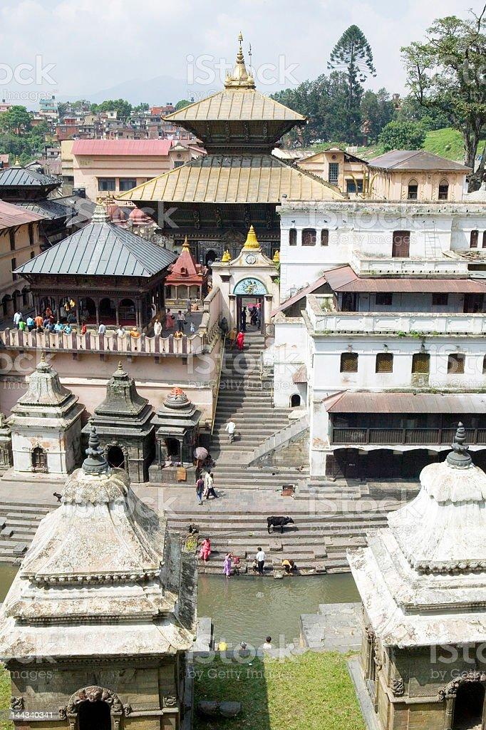 Pashupatinath Hindu Temple in Kathmandu stock photo