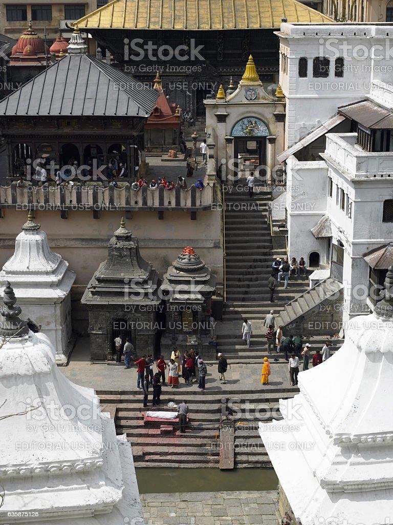 Pashupatinath Hindu Temple - Kathmandu - Nepal stock photo