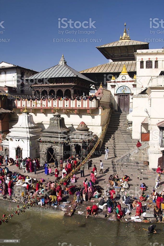 Pashupatinath Hindu temple stock photo
