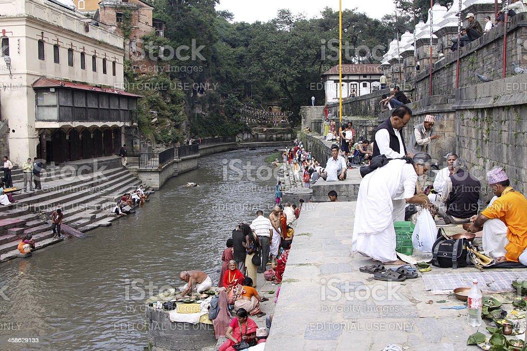 Pashupatinath in Kathmandu, Nepal stock photo
