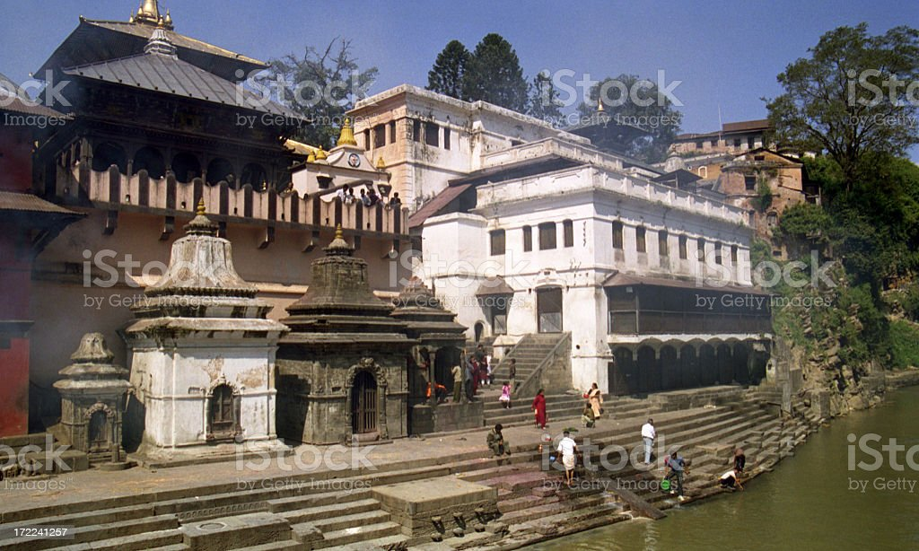 Pashupatinath - Shiva's Temple in Kathmandu royalty-free stock photo