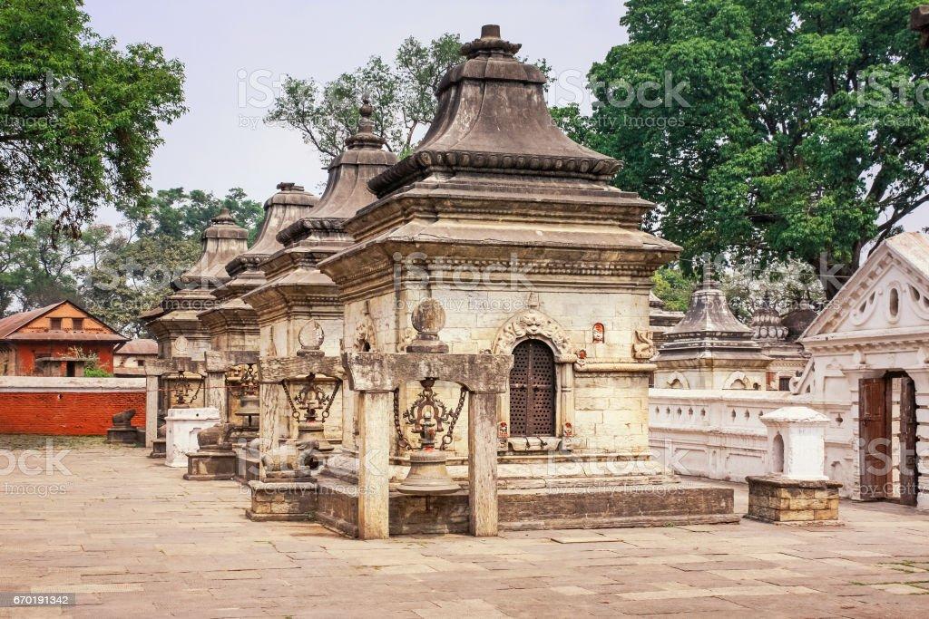 Pashupatinath Temple in in Kathmandu Nepal stock photo