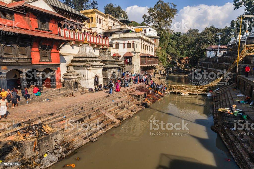 Pashupatinath Temple in Kathmandu stock photo