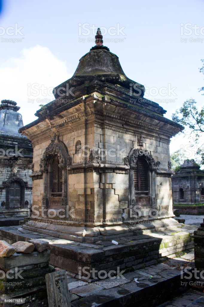 Pashupatinath Temple Nepal stock photo