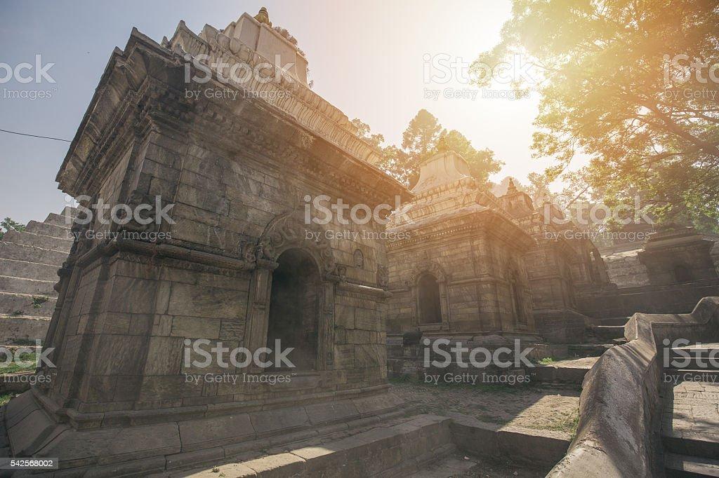 Pashupatinath temple stock photo