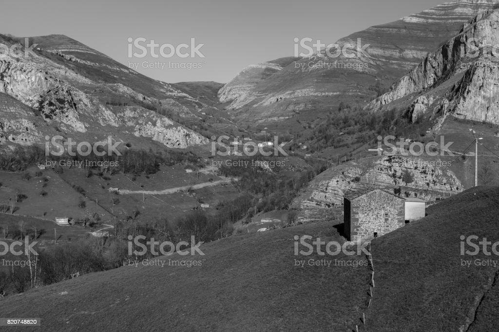 Pasiegos Valleys stock photo