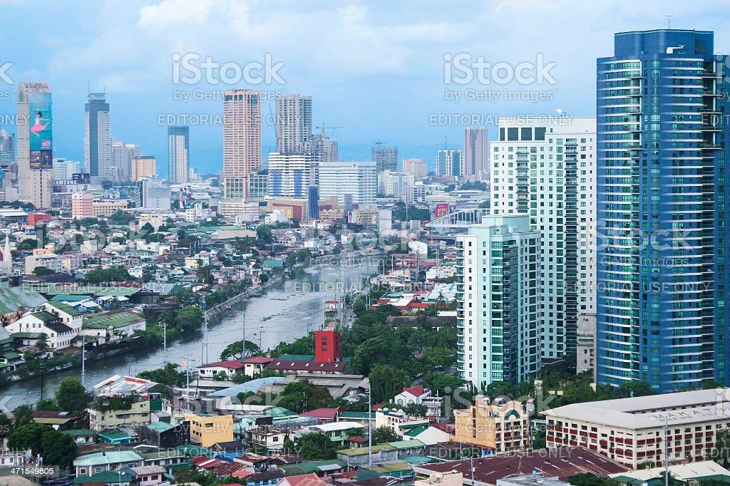 pasig river makati manila the philippines royalty-free stock photo