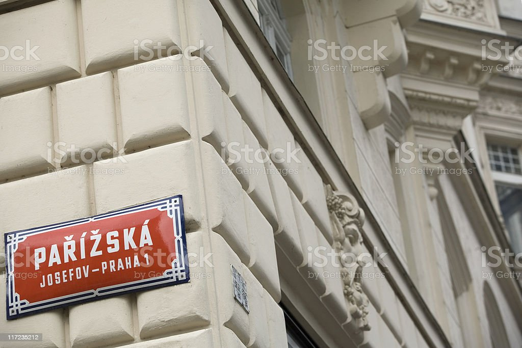 Pařížská street is Prague's most exclusive shopping streets royalty-free stock photo