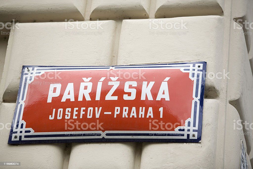 Pařížská street, one of Prague's most exclusive shopping streets royalty-free stock photo