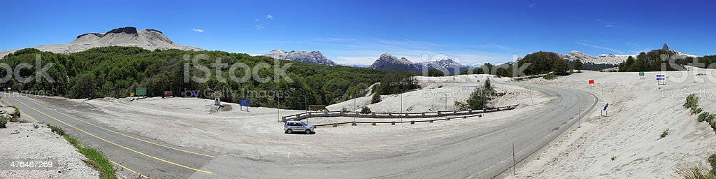 Paso Internacional Cardenal Samore, Border Chile/Argentina, Patagonia royalty-free stock photo