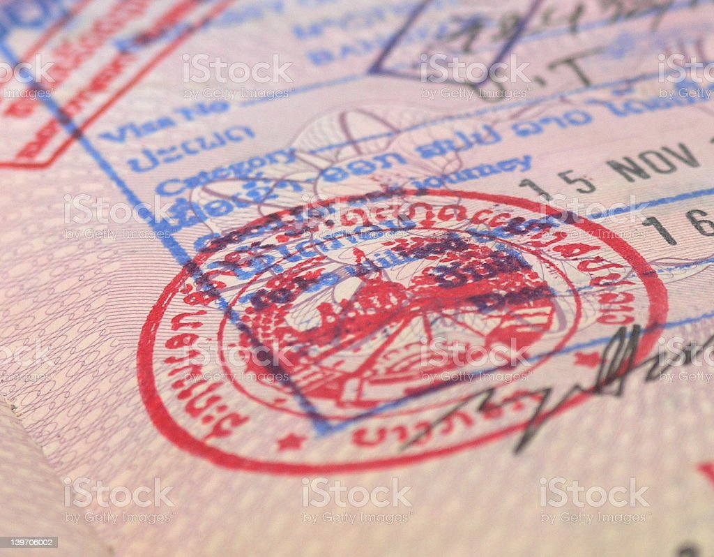 pasport visa royalty-free stock photo